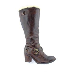Børn Kamana Genuine Shearling Lined Boot, Size 8.5